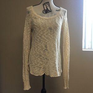 Roxy lightweight Beige Knit sweater Women's medium